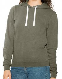 Women`s French Terry Garment Dyed Mid-Length Hoodie